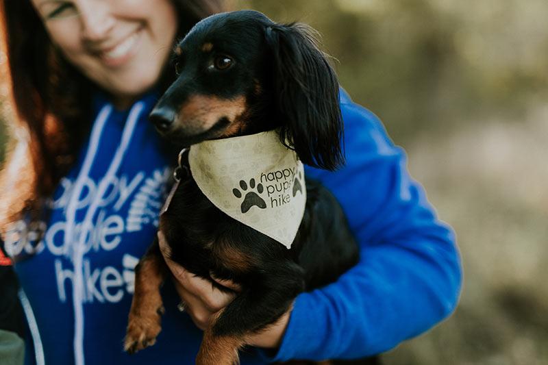 Happy Pups Hike Dog Bandana